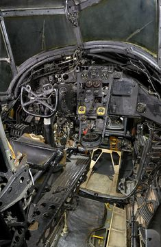 The cockpit of a Vickers Wellington MK X, another famous WW2 Medium Bomber