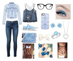 """""""Match'n with blue."""" by gabyru ❤ liked on Polyvore"""