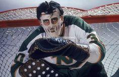 Old time hockey. Hockey Gear, Hockey Goalie, Hockey Games, Pro Hockey, Hockey Players, Minnesota North Stars, Minnesota Wild, Wild North, Best Masks