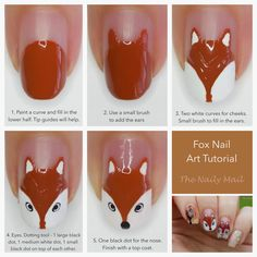 The Naily Mail | UK Nail Art Blog: Autumn Animals Nail Art