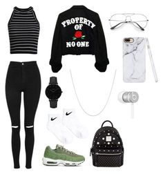 """polyvore"" by jesy-smith on Polyvore featuring mode, Topshop, NIKE, MCM, CLUSE, Fremada et Beats by Dr. Dre"