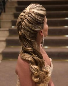 Look at the webpage to learn more about hairstyles diy Dance Hairstyles, Crown Hairstyles, Pretty Hairstyles, Braided Hairstyles, Wedding Hairstyles, Peinado Updo, Bridal Hair Down, How To Make Hair, Bridesmaid Hair