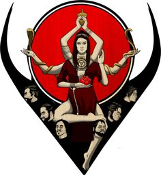 Working on a T-shirt/Poster graphic.Kali, Hindi chaos goddess, in progress.