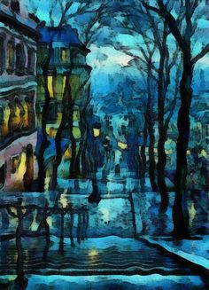 Rainy Night Sidewalk (Bob Smerecki) Tags: auto portrait abstract color ...
