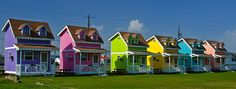Hatteras Village, Hatteras, North Carolina. These are the cottages in Hatteras Sands RV park.