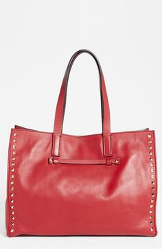 Valentino 'Medium Rockstud' Leather Tote available at #Nordstrom