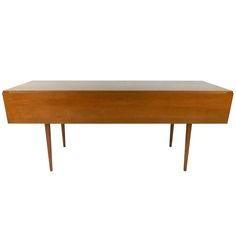 Uniquely Long Mid Century Drop Leaf Table