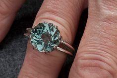 Green Amethyst Alternative Color Unique Engagement Ring 9ct Rose Petal Custom Cut by janeysjewels on Etsy https://www.etsy.com/listing/61877842/green-amethyst-alternative-color-unique