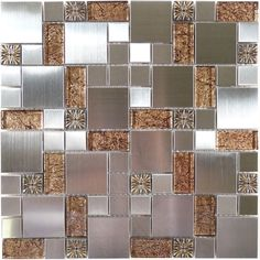 "Sheet size: 11 5/8"" x 11 5/8""     Tile Size: Unique Shapes     Tiles per sheet: 80     Tile thickness: 1/4""     Grout Joints: 1/8""     Sheet Mount: Mesh Backed     Sold by the sheet"