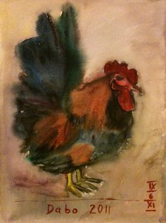 rooster, watercolor 30x40cm, 20110906 by #bblacha