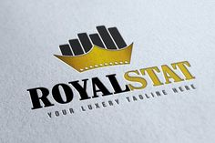 Royal Stat Logo by WonderShop on @creativemarket