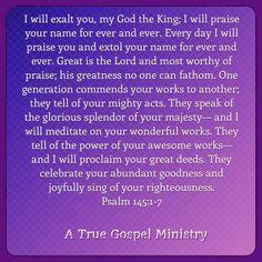 Daily Scripture Evening Scripture  #atruegospelministry