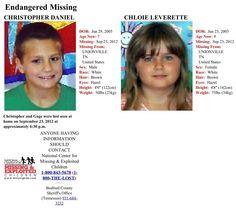 missing children from 2012 | Endangered Missing TN Children, Leverette & Daniel | MIssing Children ...
