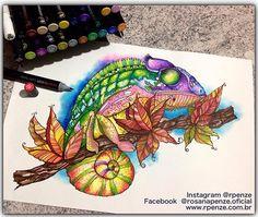 Instagram media rpenze - Hoje quero agradecer a Erica da Chameleon do Brasil que veio me visitar e me presenteou com um lindo kit de marcadores Chameleon, me empolguei e criei esse Camaleão... Gente... E vou falar pra vcs ein... Essa arte e essas divinas canetas só a Chameleon tem. Se vc gostou curte aih e compartilhe. Bjus e um abraço a todos!!! #chameleontones @chameleonpens @chameleonpens_germany @chameleonpensbrasil #drawing #rpenze #marcadores #maker