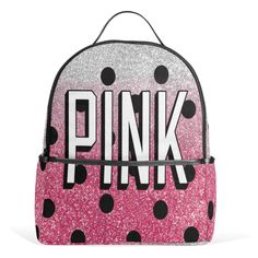 Everyone need a fashion backpack with pink printed !