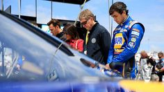 Chase with mom Cindy & dad Bill on pit road in his 2nd Sprint Cup start, he finishes 16th. --  See the best photos from Richmond | NASCAR.com