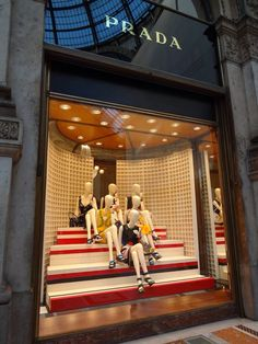 Prada window display #Milan