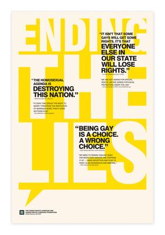 Ending the Lies Poster : Human Rights Campaign