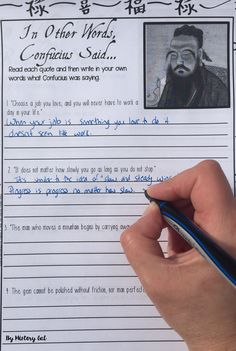 Students will learn more about Confucianism, Daoism/Taoism, and Buddhism by reading quotes from their founders: Confucius, Laozi, and Buddha. After reading the quotes, students will answer 5 questions and interpret 4 quotes from each founder. Great for your 7th, 8th, 9th, and 10th grade classroom or homeschool students! {Middle School & High School Approved!!}
