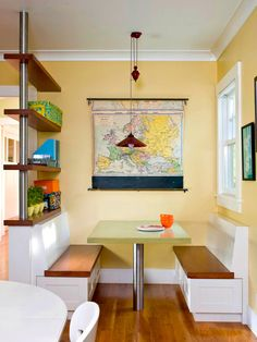 Kitchen Nook Design 20 Breakfast Nook Design Ideas Perfect For Small Apartments Best Model Kitchen Banquette, Banquette Seating, Kitchen Nook, Dining Nook, Booth Seating, Kitchen Seating, Booth Table, Kitchen Walls, Kitchen Benches