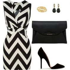 Chevron summer cocktail dress