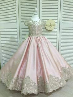 Untitled Little Girl Princess Dresses, Pink Princess Party, Pretty Pink Princess, Gowns For Girls, Girls Dresses, Flower Girl Dresses, Flower Girls, Simple Long Dress, Event Dresses