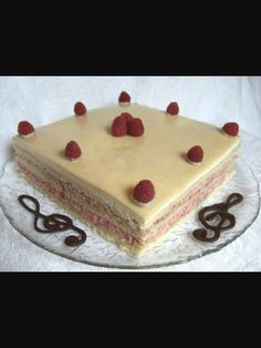 White Chocolate Raspberry Opra Cake A Daring Bakers Challenge
