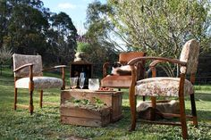 Www.countryweddingstyle.com Vintage furniture and prop hire for #weddings in the #macedonranges