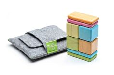 Amazon.com: 8 Piece Tegu Pocket Pouch Magnetic Wooden Block Set, Tints: Toys & Games