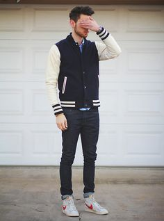 Abel Brown Jacket, Levi's Jeans, Nike Shoes | Protovision (by Edward Honaker) | LOOKBOOK.nu