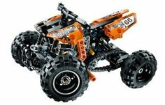 Lego Technic Quad Bike - 9392 by Lego Technic Quad Bike - 9392. $45.00. Lego Technic: Quad Bike #9392. The Lego Technic Quad Bike - 9392 can take on any landscape, no matter how wild.  This rugged quad bike comes equipped with front and rear suspension coils, realistic steering, chain drive and engine with moving piston. You can also rebuild it as an off-road race buggy.