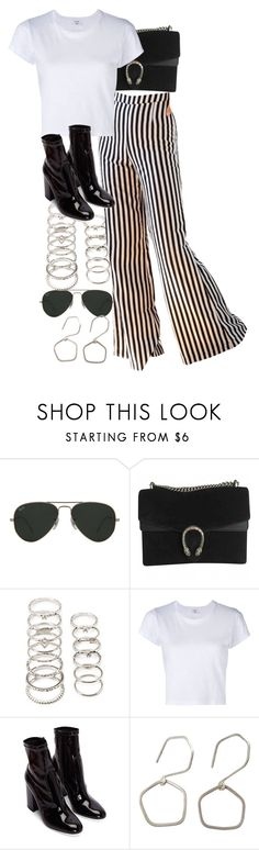 """""""Untitled #11484"""" by nikka-phillips ❤ liked on Polyvore featuring Ray-Ban, Gucci, Forever 21 and RE/DONE"""