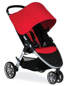 Enjoy versatile, lightweight travel functionality with the BRITAX 2017 B-Agile 3 Stroller. Designed with multi-tasking parents in mind, this convenient quick-fold design allows you to close the stroller in seconds with just one hand. Britax Stroller, Britax B Agile, Jogging Stroller, Best Baby Prams, Best Baby Strollers, Double Strollers, Best Lightweight Stroller