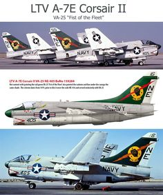"A-7E Corsair II VA-25 ""Fist of the Fleet"""