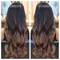 Hair color ideas for brunette for the summer Caramel Life Ideas for 2019 - . - Hair color ideas for brunette for the summer Caramel Life Ideas for 2019 - Ombre Hair Color For Brunettes, Blonde Ombre Hair, Brown Ombre Hair, Brunette Color, Hair Color Balayage, Brown Hair Colors, Brunette Hair, Hair Highlights, Black Highlights
