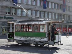 Historical tram in Halle an der Saale, Germany