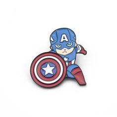 Genuine Marvel Comics Captain America Zoom Button Badge Pin Badge Retro
