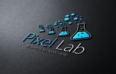 Pixel Lab Logo by fastudiomedia on Creative Market