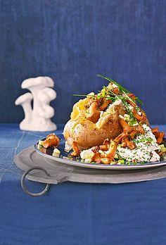 Chefkoch.de Rezept: Ofenkartoffeln mit Pfifferlingen