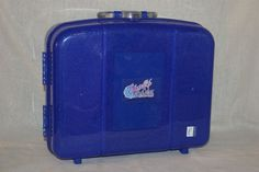 Caboodles Cosmetic Case LARGE Make Up Storage Color Collisions Blue Glitter  #Caboodles