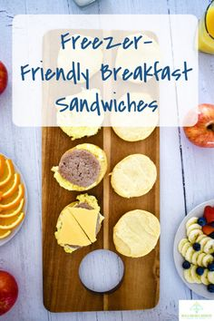 Freezer friendly breakfast sandwiches are perfect for busy mornings. Make ahead and microwave in the morning. With classic breakfast staples such as egg sausage cheese and biscuits this will be a new favorite! Egg Recipes For Breakfast, How To Make Breakfast, Breakfast For Dinner, Breakfast Dishes, Biscuit Sandwich, Breakfast Sandwiches, Egg Biscuits, Freezer Friendly Meals, Sausage And Egg
