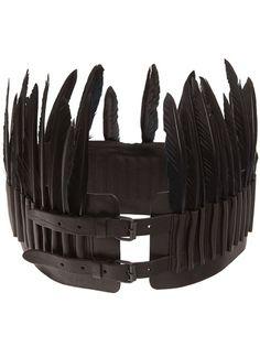ANN DEMEULEMEESTER - wide feather belt