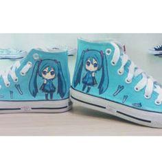 VOCALOID shoes custom anime #VOCALOID shoes custom high-top sneak