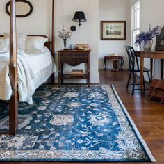 An inspiring rug can set the mood for your entire bedroom space.