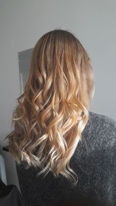 Honey blonde ombre x2! Looks a little yellow here but just because its fresh from the salon, has evened out to a gorgeous mix of ashy and honey