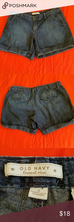 Old Navy denim shorts Super cute! A must have for the summer wardrobe.  They're in beautiful condition. Old Navy  Jeans