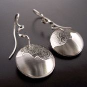 Leaf and Tendril Pendant. All Silver — Ai Jewelry