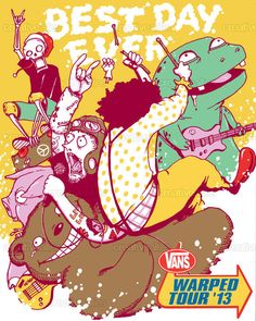 Vans Warped Tour Poster by pigboom on CreativeAllies.com