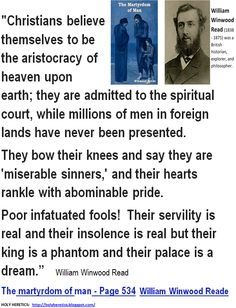 "They bow their knees and say they are ""miserable sinners"",  -and their hearts swell with abominable pride. SPOT ON!!!"