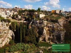 """Situata sull'altopiano delle Murge, lungo l'importante arteria stradale che collega la #Puglia alla #Basilicata, la città di #Gravina sorge al margine di uno dei più maestosi e naturali esempi di """"gravine"""" esistenti, lungo il percorso che raggiunge e attraversa anche le città di #Matera, #Laterza e #Ginosa sino a lambire il mar Ionio. Un connubio tra cultura, civiltà rupestre e storia che rende la città unica nel suo insieme. #pugliaperlescuole"""